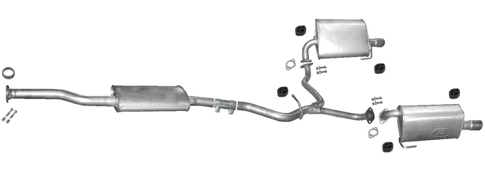 exhaust system for subaru legacy 2 5 16v awd outback 2 5. Black Bedroom Furniture Sets. Home Design Ideas