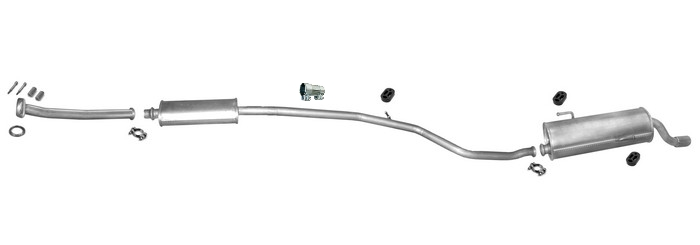 auspuff peugeot 206 cc 16v 2000 2005 chrome endrohr. Black Bedroom Furniture Sets. Home Design Ideas