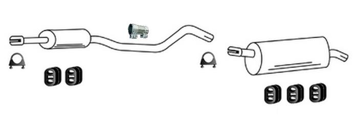 Auspuff für Opel Meriva A 1.7 CDTi TD 2003-05//2010 Endschalldampfer 2996